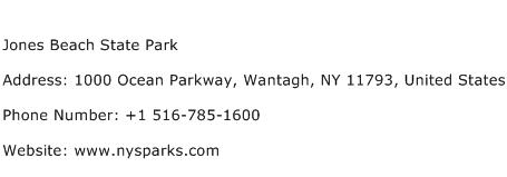 Jones Beach State Park Address Contact Number