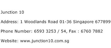 Junction 10 Address Contact Number