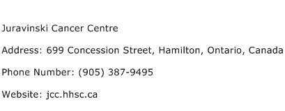 Juravinski Cancer Centre Address Contact Number