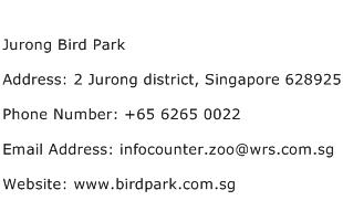 Jurong Bird Park Address Contact Number