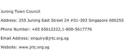 Jurong Town Council Address Contact Number