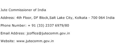 Jute Commissioner of India Address Contact Number