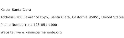 Kaiser Santa Clara Address Contact Number