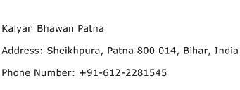 Kalyan Bhawan Patna Address Contact Number