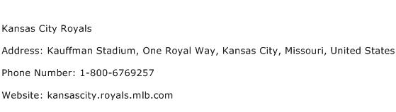 Kansas City Royals Address Contact Number