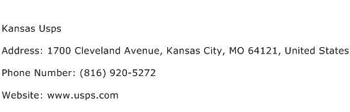 Kansas Usps Address Contact Number