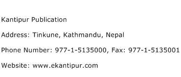 Kantipur Publication Address Contact Number