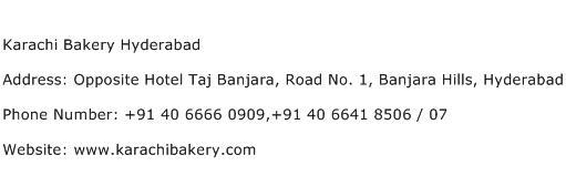 Karachi Bakery Hyderabad Address Contact Number