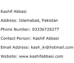 Kashif Abbasi Address Contact Number
