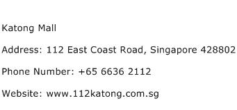 Katong Mall Address Contact Number