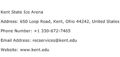 Kent State Ice Arena Address Contact Number