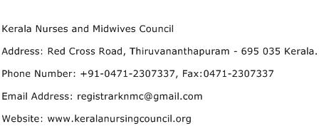 Kerala Nurses and Midwives Council Address, Contact Number