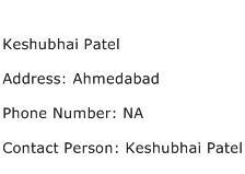 Keshubhai Patel Address Contact Number