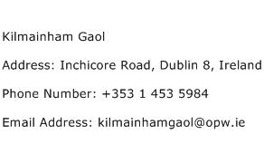 Kilmainham Gaol Address Contact Number