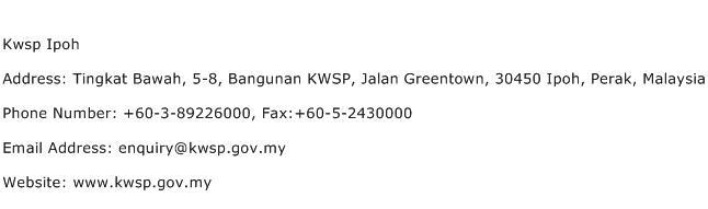 Kwsp Ipoh Address Contact Number