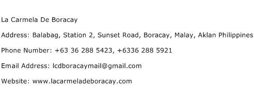 La Carmela De Boracay Address Contact Number