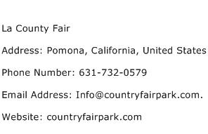 La County Fair Address Contact Number