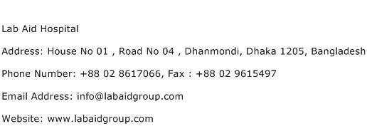 Lab Aid Hospital Address Contact Number