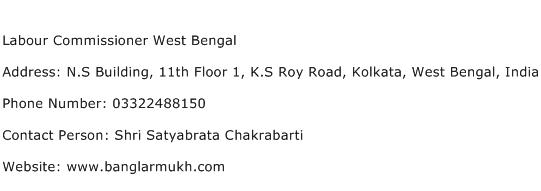 Labour Commissioner West Bengal Address Contact Number