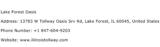Lake Forest Oasis Address Contact Number
