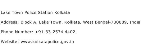 Lake Town Police Station Kolkata Address Contact Number