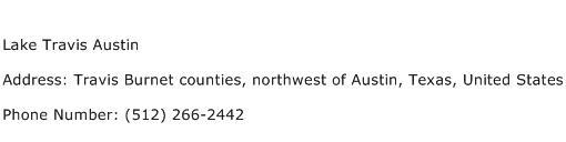 Lake Travis Austin Address Contact Number