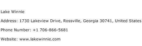 Lake Winnie Address Contact Number