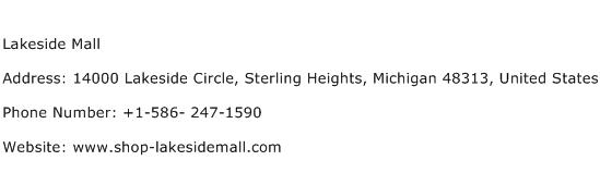 Lakeside Mall Address Contact Number