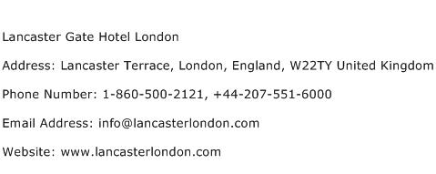 Lancaster Gate Hotel London Address Contact Number
