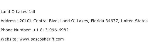 Land O Lakes Jail Address Contact Number