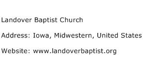 Landover Baptist Church Address Contact Number