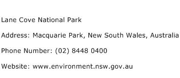 Lane Cove National Park Address Contact Number