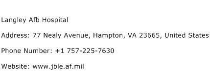 Langley Afb Hospital Address Contact Number