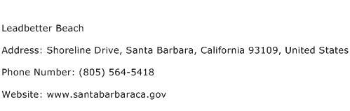 Leadbetter Beach Address Contact Number