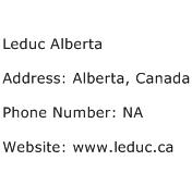 Leduc Alberta Address Contact Number