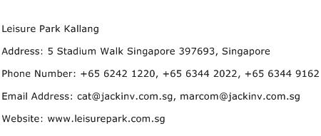 Leisure Park Kallang Address Contact Number
