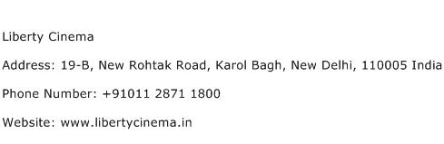 Liberty Cinema Address Contact Number