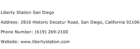 Liberty Station San Diego Address Contact Number