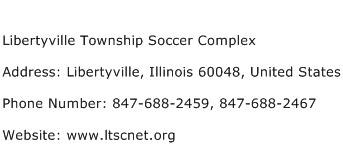 Libertyville Township Soccer Complex Address Contact Number