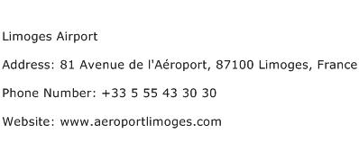 Limoges Airport Address Contact Number