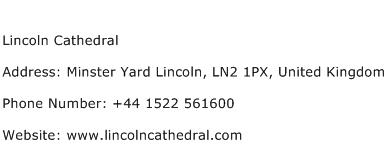 Lincoln Cathedral Address Contact Number