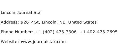 Lincoln Journal Star Address Contact Number