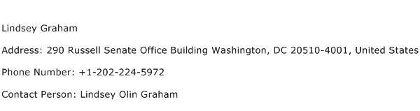 Lindsey Graham Address Contact Number