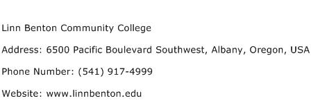 Linn Benton Community College Address Contact Number