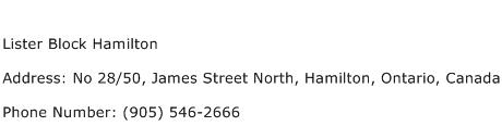 Lister Block Hamilton Address Contact Number