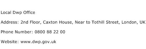 Local Dwp Office Address Contact Number
