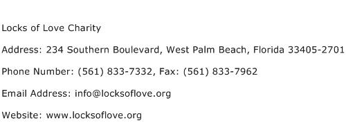 Locks of Love Charity Address Contact Number