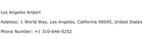 Los Angeles Airport Address Contact Number