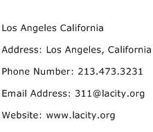 Los Angeles California Address Contact Number