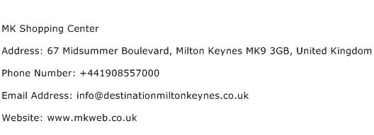 MK Shopping Center Address Contact Number